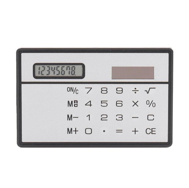 Ультратонкий калькулятор на солнечных батарейках! Сенсорный восьмизначный калькулятор в тонком корпусе!