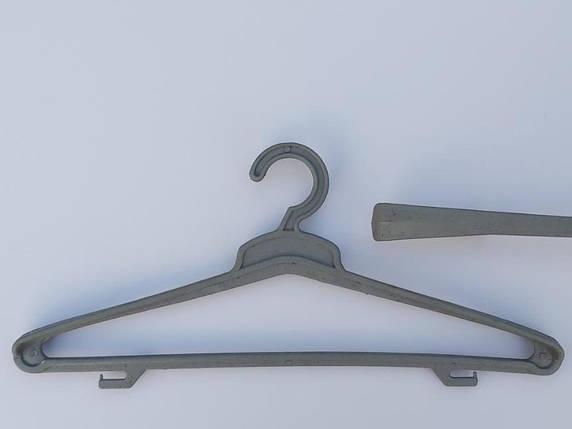 Плечики вешалки тремпеля ( Гем ) цвета хаки, длина 45 см, в упаковке 5 штук, фото 2