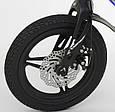 """Дитячий двоколісний велосипед 14"""" з магнієвої рамою литими дисками дискові гальма Corso MG-85328 синій, фото 4"""