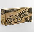 """Дитячий двоколісний велосипед 14"""" з магнієвої рамою литими дисками дискові гальма Corso MG-85328 синій, фото 6"""