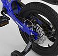 """Дитячий двоколісний велосипед 14"""" з магнієвої рамою литими дисками дискові гальма Corso MG-85328 синій, фото 5"""
