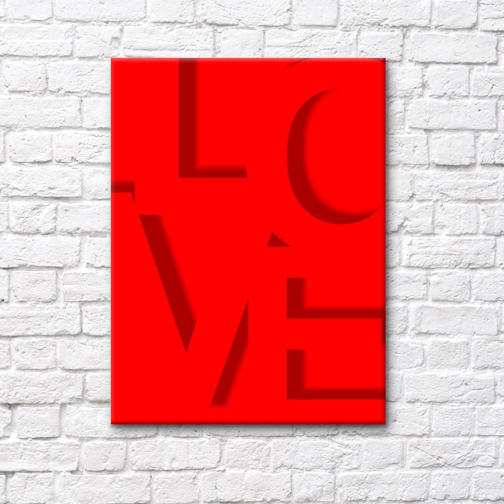 """Постер на полотні """"LOVE"""""""