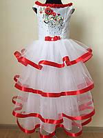 """Плаття для дівчинки """"Святкове"""" червоне, фото 1"""