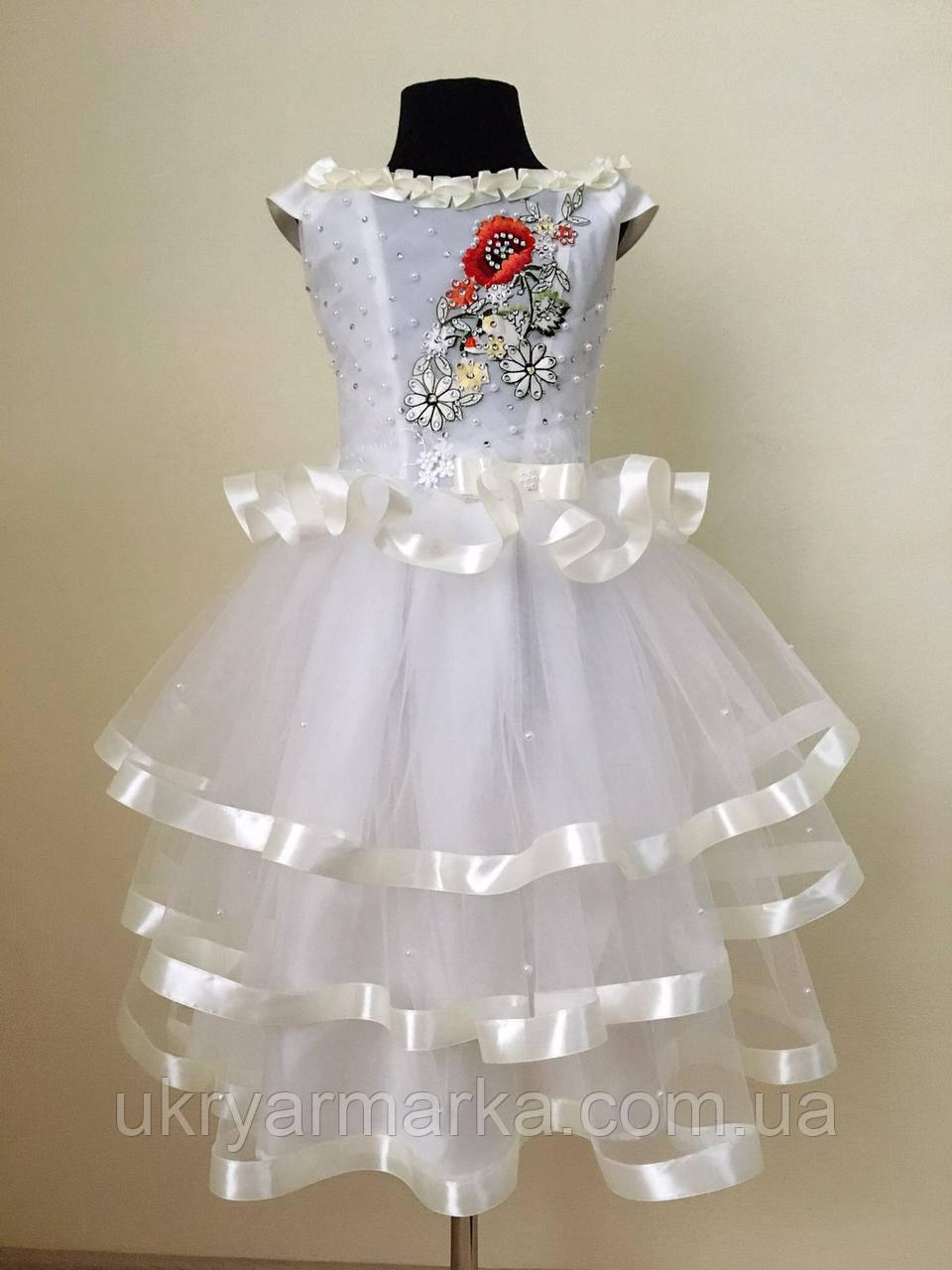 """Плаття для дівчинки """"Святкове"""" біле"""