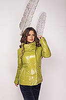 Женская куртка из плащевки монклер с синтепухом, воротник стойка, на кнопках, фото 1