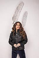 Женская куртка из плащевки Канада с синтепухом, воротник стойка, на молнии с карманами, фото 1
