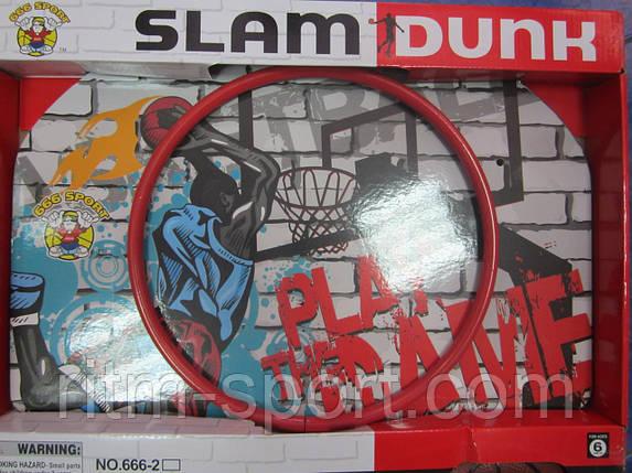 Дитячий баскетбольний набір (кільце зі щитом, м'ячик і насос), фото 2
