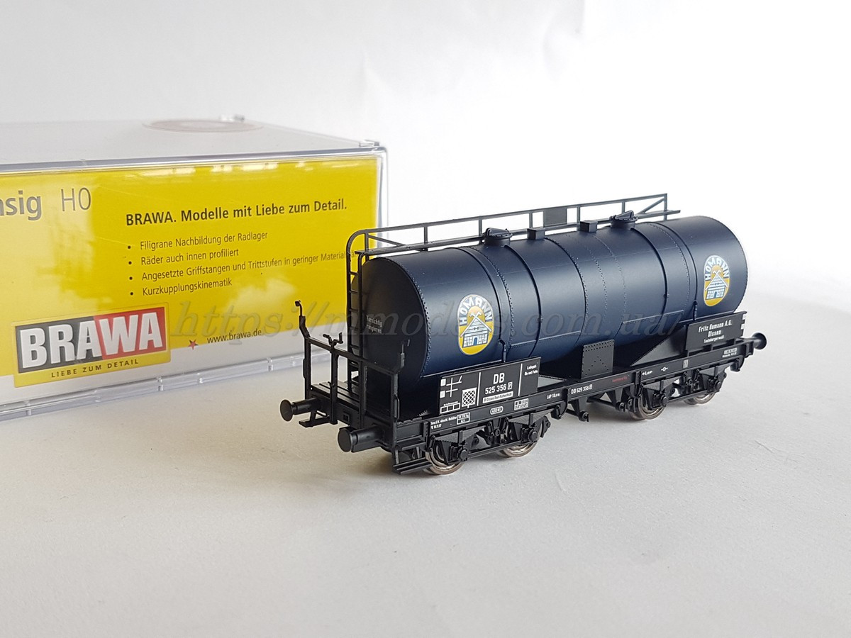 Brawa 47092  модель 4х осной цистерны Homann DB, масштаба 1:87,H0
