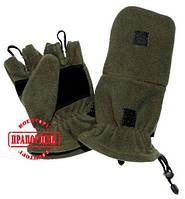 Перчатки-варежки MFH флис олива 15311B