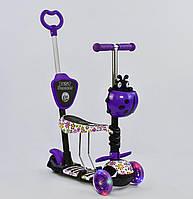 Самокат - беговел 5 в1 Best Scooter с родительской ручкой и подножками арт. 97240