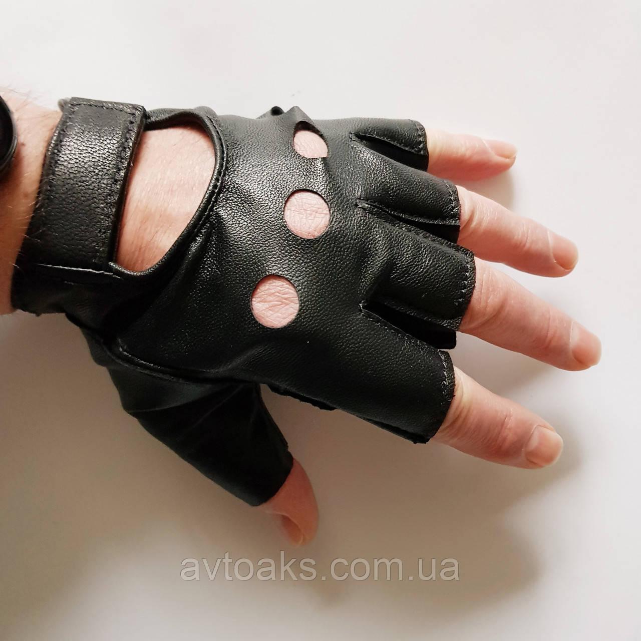 Перчатки кожаные, размер М, цельный верх