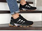 Чоловічі кросівки Adidas Marathon TR (чорно-помаранчеві) 9009, фото 2