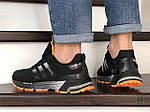 Чоловічі кросівки Adidas Marathon TR (чорно-помаранчеві) 9009, фото 4