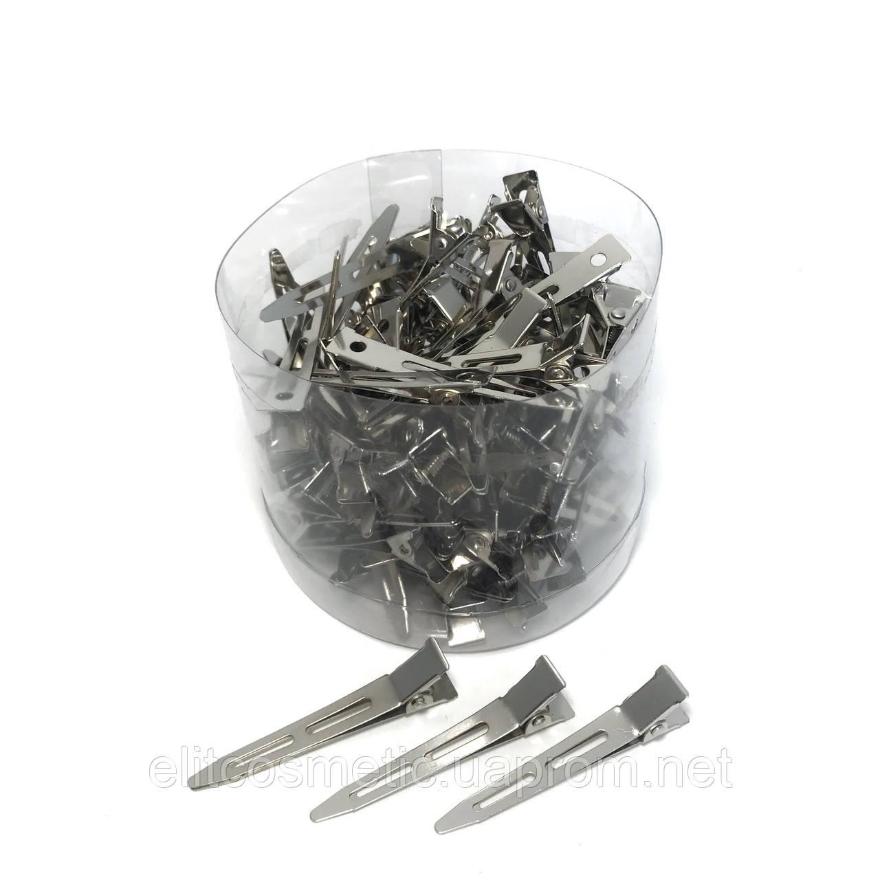 Зажим для волос DenIS professional - металл 5.5 см. 100шт.