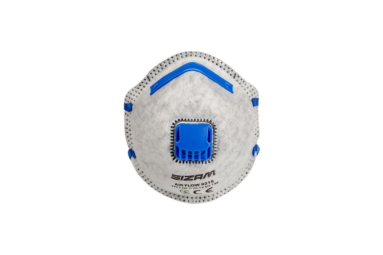 Респиратор AIR FLOW 9215 FFP2 (с угольным шаром) 20 штук