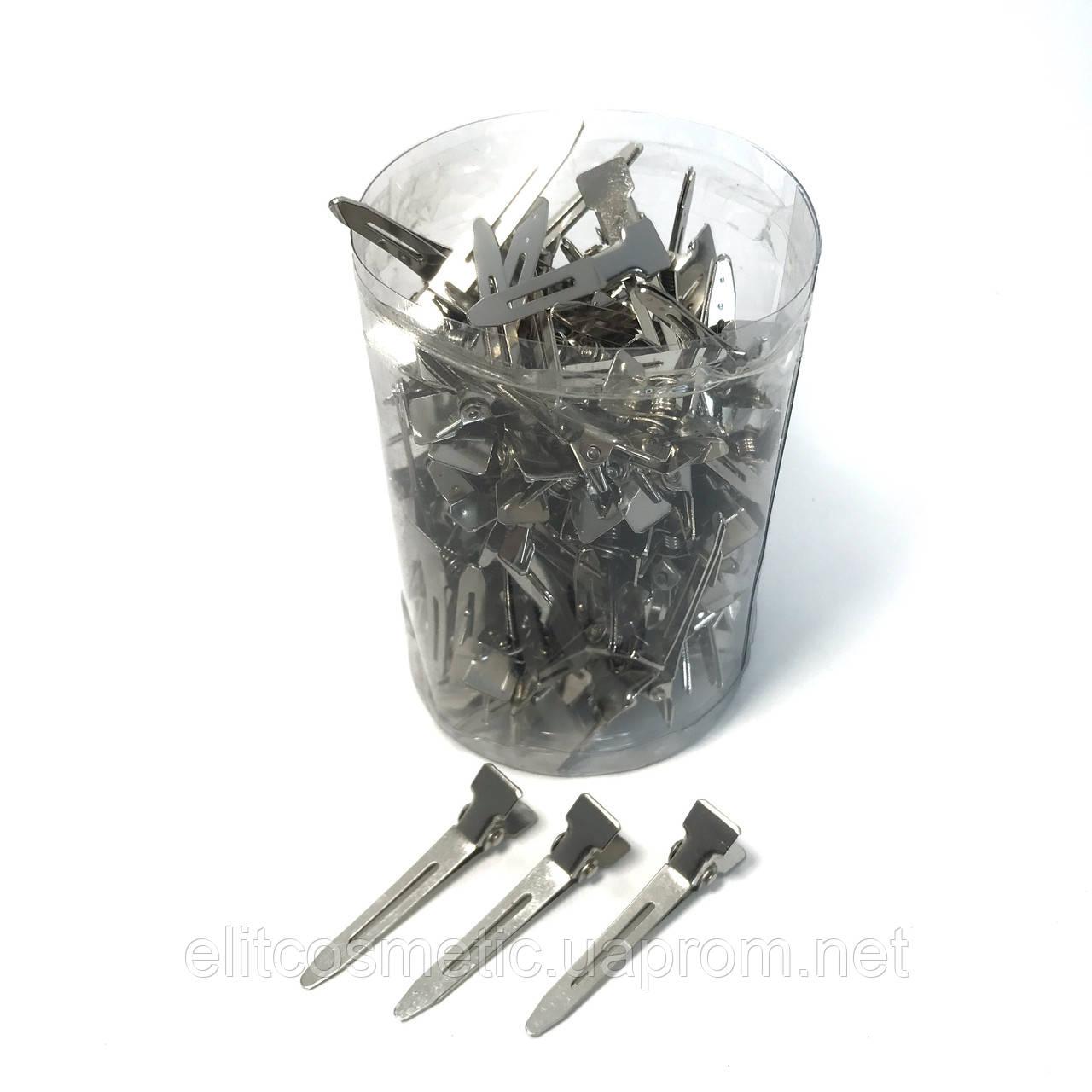 Зажим для волос DenIS professional - металл 5 см. 100шт.
