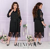 Сукня жіноча міді (4 кольори) ЇЇ/-8625 - Чорний, фото 1