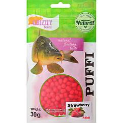 Повітряне тісто Grizzly Baits Puffi Strawberry (Полуниця) 8мм 30г