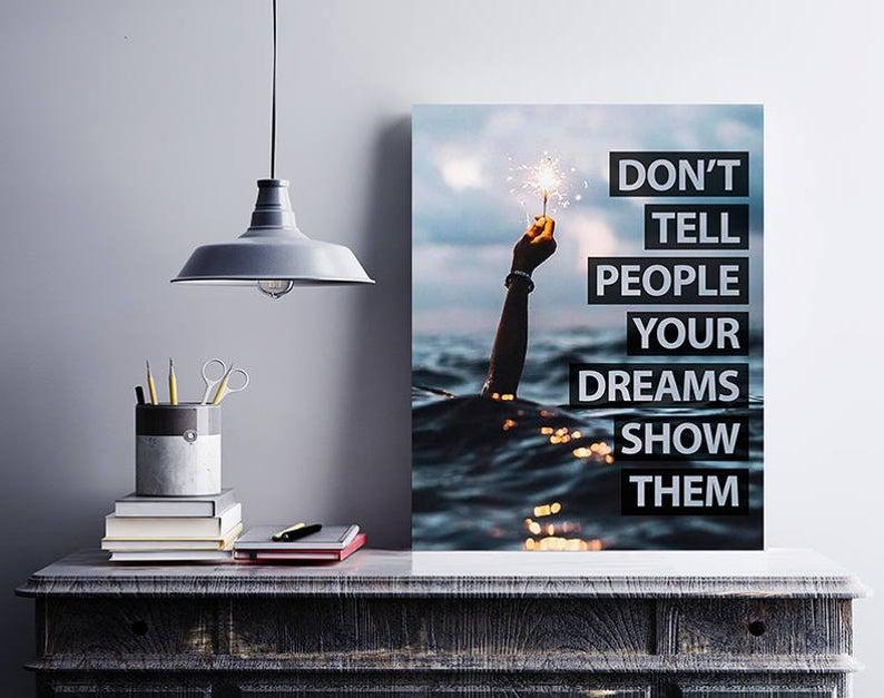 Картина Мотивуючий плакат Постер мотиваційний don't tell people Плакат формату А3
