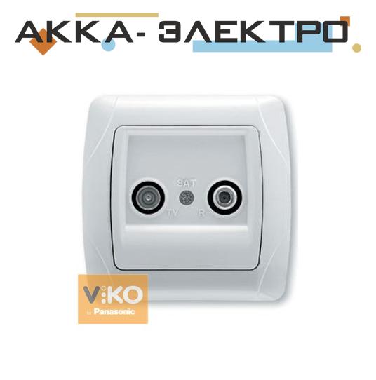 Розетка TV-спутник проходная белая ViKO Carmen 90561087