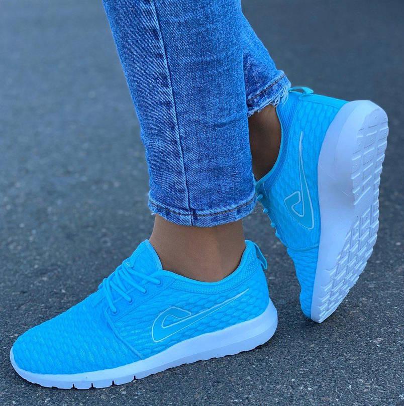 Кросівки жіночі (ПІНА) 8 пар в ящику блакитного кольору 36-41, фото 2