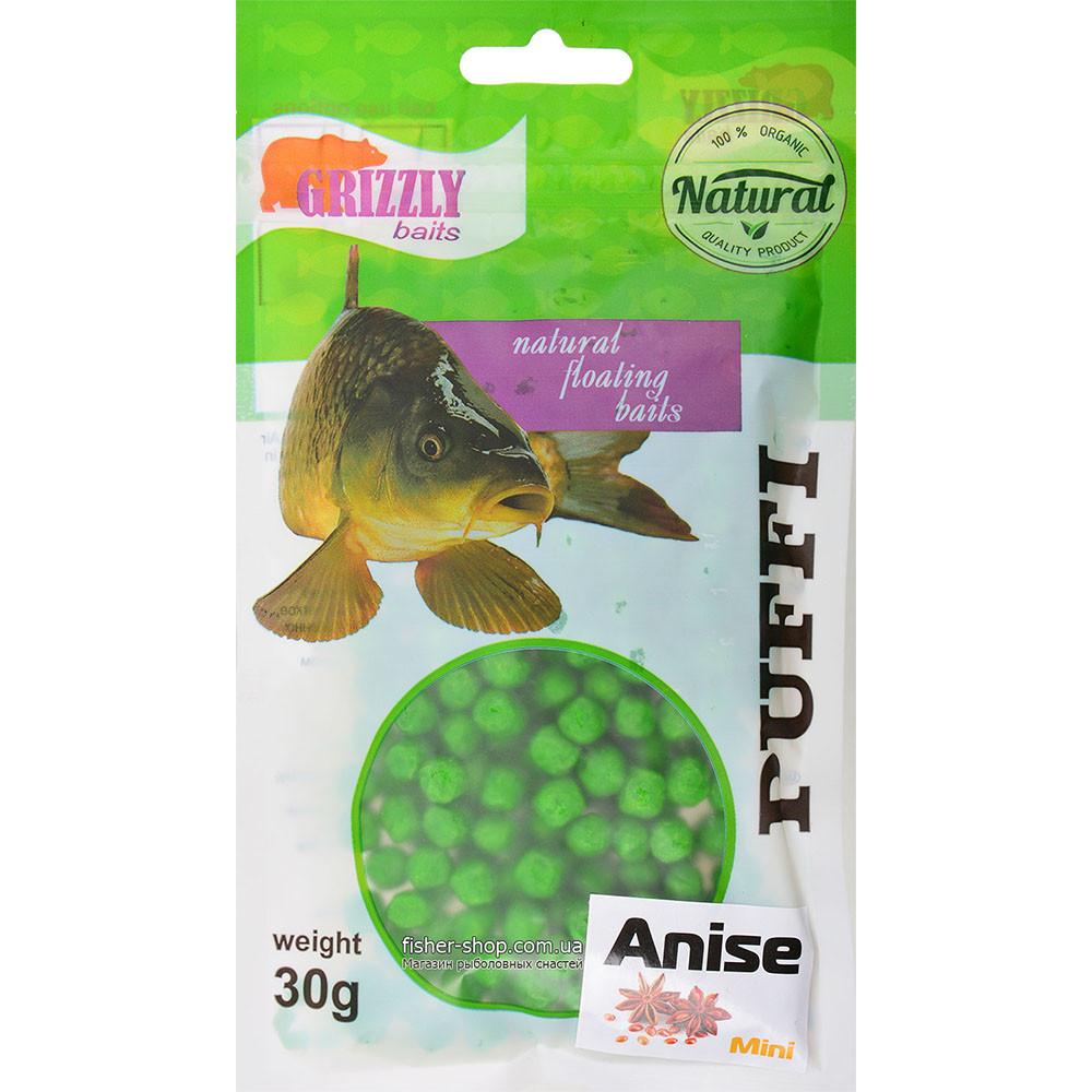 Воздушное тесто Grizzly Baits Puffi Anise (Анис) 8мм 30г