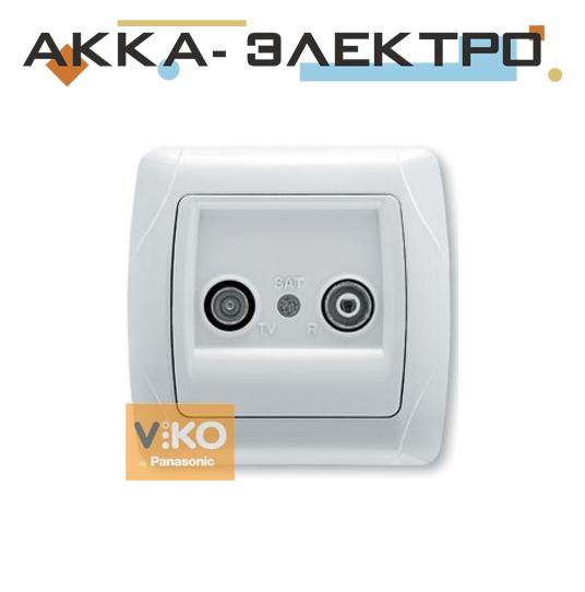 Розетка TV+radio проходная белая ViKO Carmen 90561024