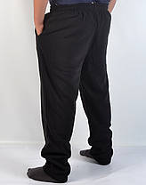 Штаны спортивные больших размеров - зима 4XL - 8XL (Венгрия ) Брюки байковые мужские - батал, фото 2