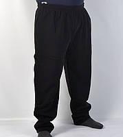 Штаны спортивные зимние мужские в больших размерах ( Венгрия ) Брюки теплые повседневные - батал 4XL черные