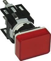 Арматура сигнальная 16мм прямоугольная красная LED 24V AC/DC