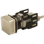 Арматура сигнальная 16мм квадратная белая LED 24V AC/DC
