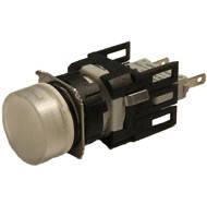 Арматура сигнальная 16мм круглая белая LED 24V AC/DC