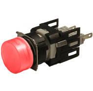 Арматура сигнальная 16мм круглая красная LED 24V AC/DC