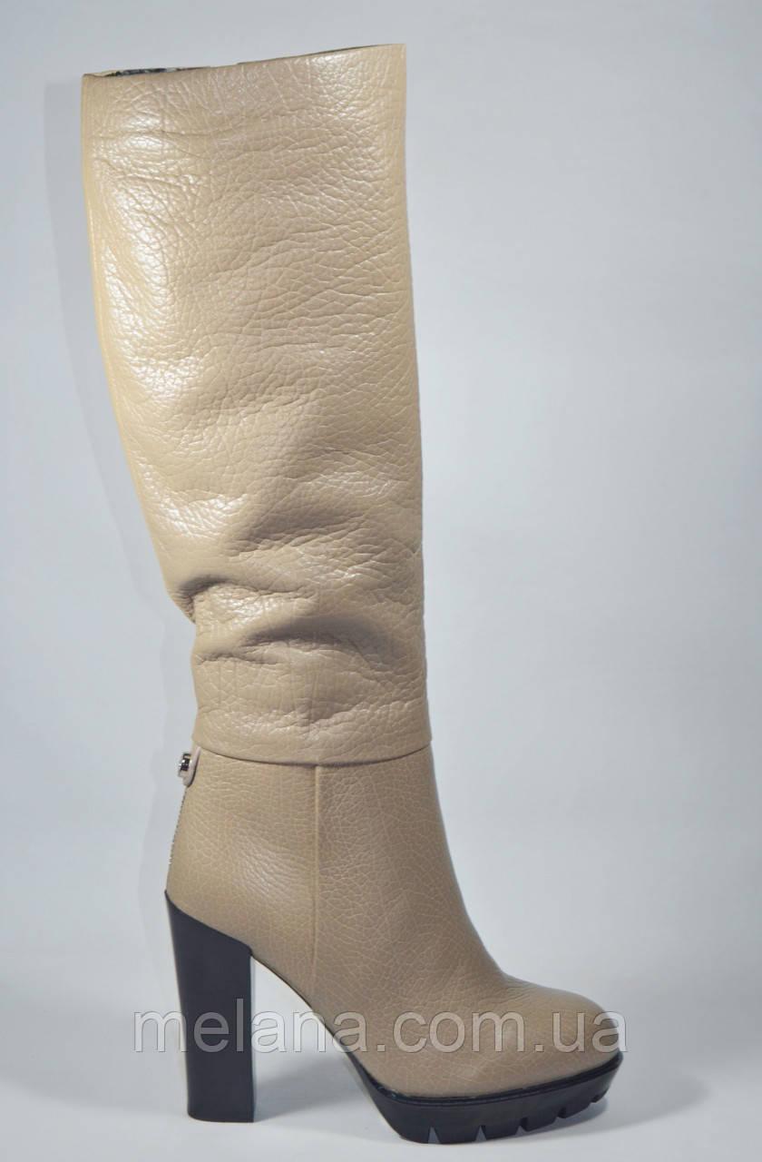 eb507d22ca42 Сапоги женские бежевые на каблуке Firagema евро зима  продажа, цена ...