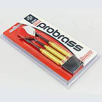 Дротики для игры в дартс цилиндрические PROBRASS (сталь, 3шт.,+3хвост,+3опер) PZ-BC106