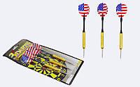 Дротики для игры в дартс каплевидные 3шт Baili Sport (латунь,вес 16гр) PZ-BL-3018B