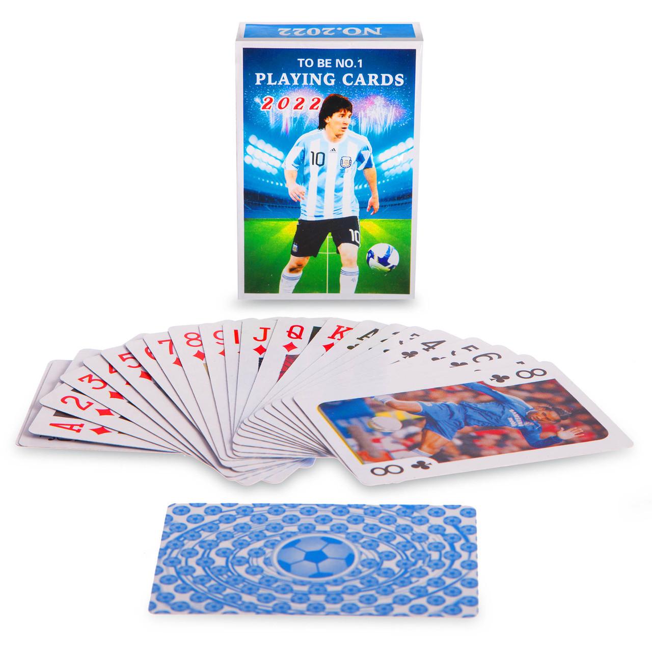 Игральные карты с ламинированным покрытием Футбол (колода в 54 листа, 280гр)