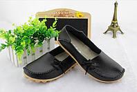 Туфли женские черные натуральная кожа Т454 р 39,41