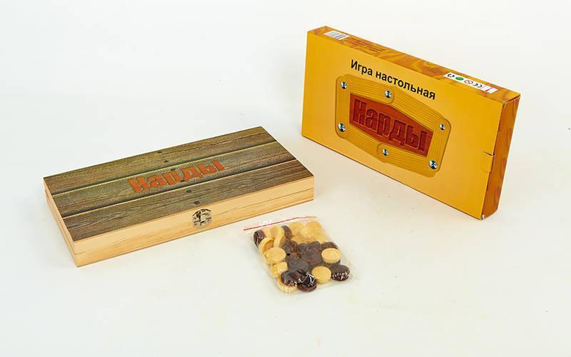 Нарды настольная игра деревянные (дерево, р-р доски 29см x 29см)