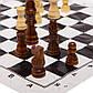 Шахматные фигуры деревянные с полотном PVC для игр (дерево, h-7,8см), фото 2