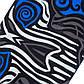 Скейтборд пластиковый Penny 22in со светящимися колесами с рисунком (колесо-PU, р-р деки 56х15см, синий), фото 6