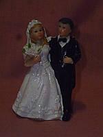 Декоративная свадебная статуэтка на торт 9 сантиметров высота 6 позиций