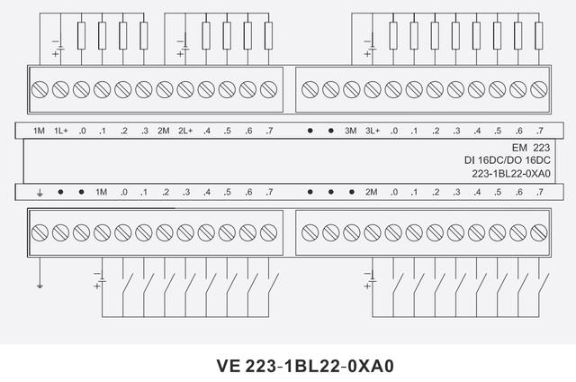 VE 223-1BL22-0XA0 (8 ВХОДОВ =24В, 8 ВЫХОДОВ =24В) модуль ввода-вывода дискретных сигналов для CPU 224/CPU 226
