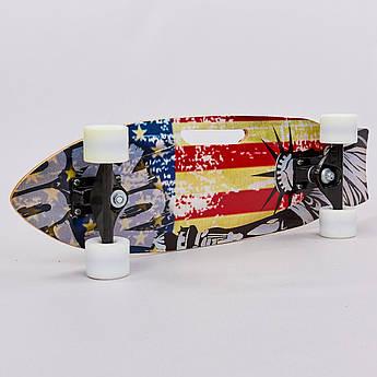Скейтборд в сборе (роликовая доска) (колесо, деки 68х21х1,2см) PZ-818-A