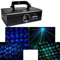 Лазер BIG BEMFT185GB синий + зеленый анимационный лазер (более 250  рисунков) DMX