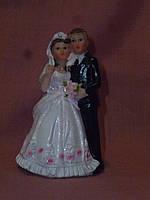 Декоративная свадебная статуэтка жених и невеста на торт 9 сантиметров высота 6 видов