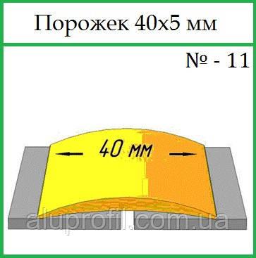 Алюминиевый профиль — порожек алюминиевый 40х5