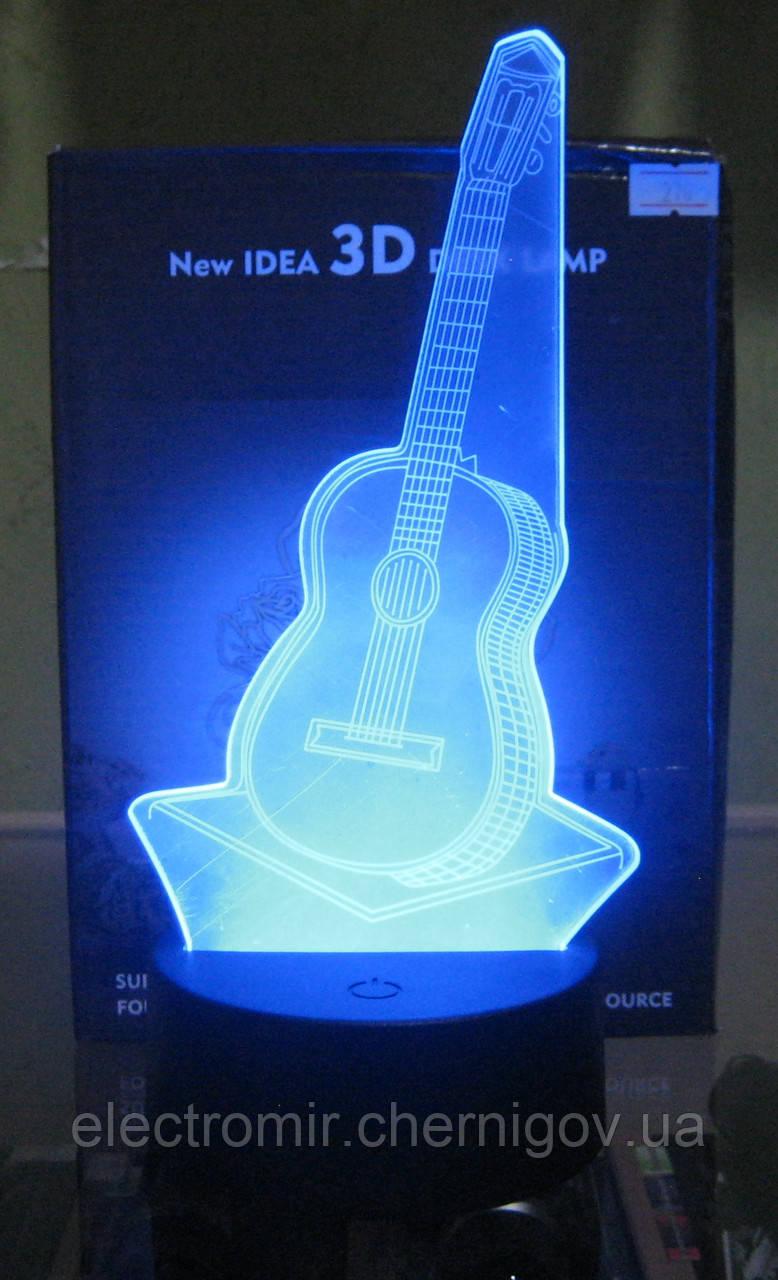 Оригинальный 3D ночник (Гитара)
