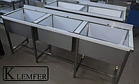 Ванна моечная трехсекционная 1600х600