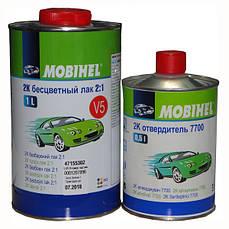 Лак автомобильный акриловый Mobihel V5, не требующий разбавителя 1л + отвердитель 7700 0,5л